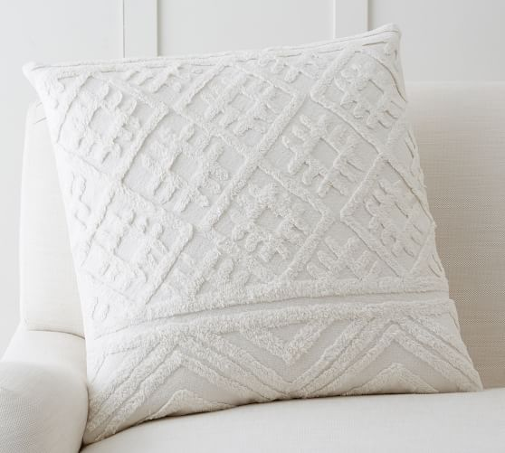 Allegra Tufted Pillow Cover Pottery Barn
