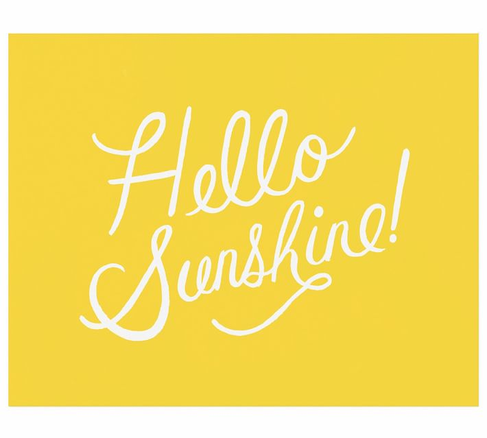 Hello Sunshine By Rifle Paper Co Pottery Barn