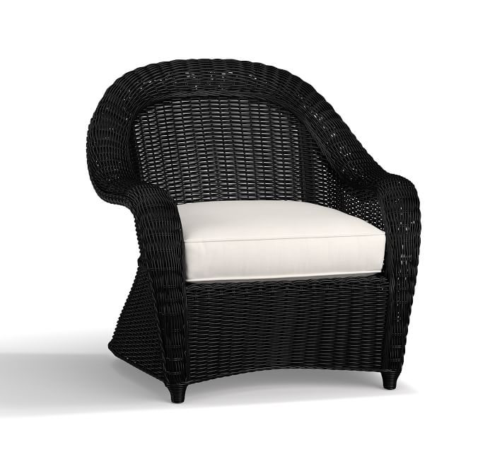 Torrey All Weather Wicker Roll Arm Lounge Chair With