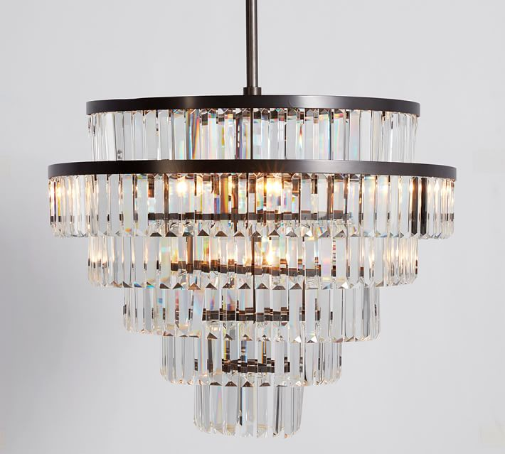 Shop Gemma Crystal Round Chandelier from Pottery Barn on Openhaus