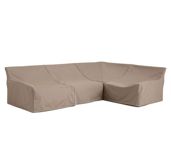 Indio Sectional Set Custom Fit Outdoor Furniture Covers Pottery Barn