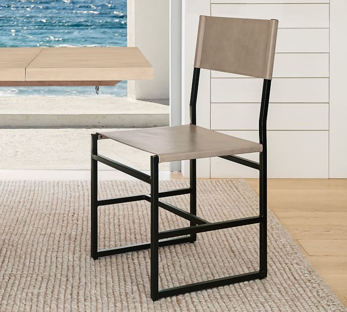 Hardy Leather Dining Chair Pottery Barn