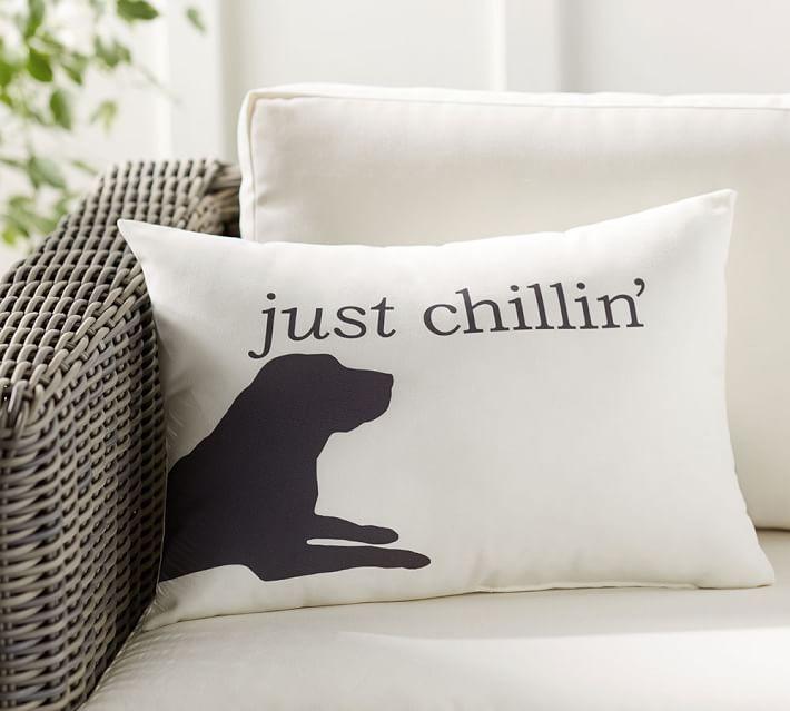 Chill Dog Indoor Outdoor Lumbar Pillow Pottery Barn
