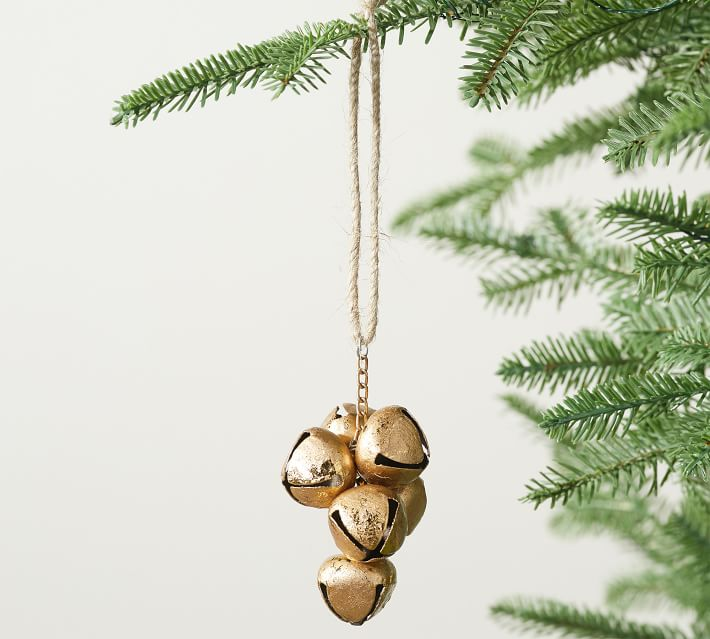 Golden Bells Ornament - Set of 3