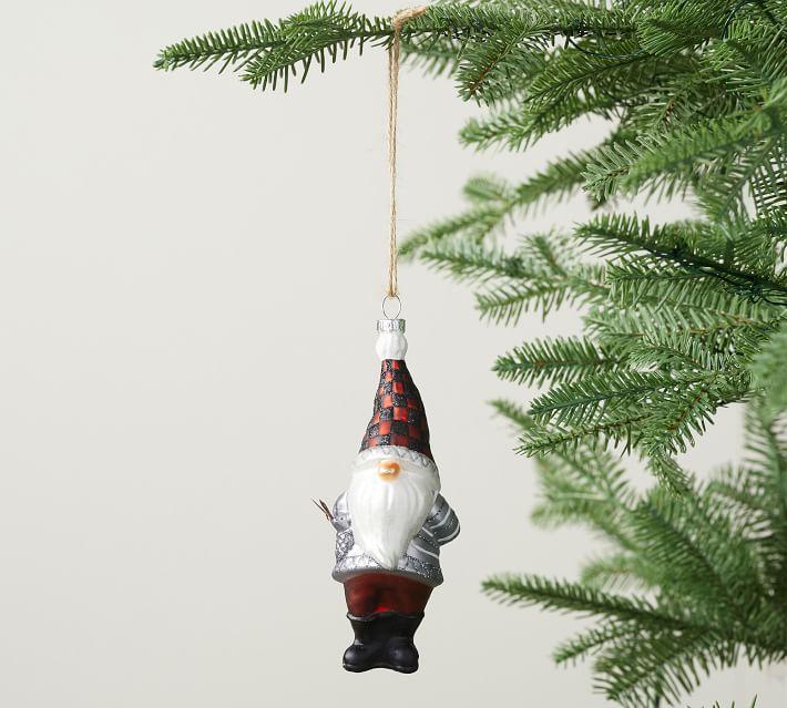 Mercury Glass Gnome Ornament Set Of 3 Pottery Barn
