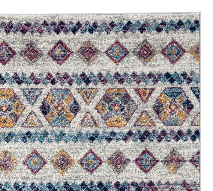 Multi Tahlia Synthetic Rug Patterned Rugs Pottery Barn