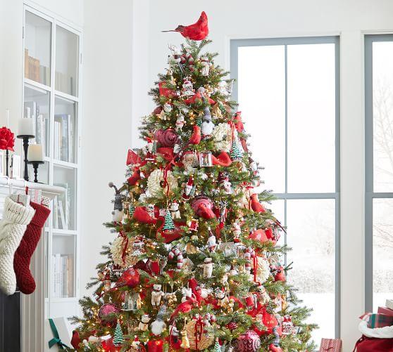 Cardinal Christmas Tree Topper Pottery Barn