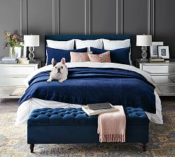 Bedroom Benches End Of Bed Seating Storage Benches Pottery Barn
