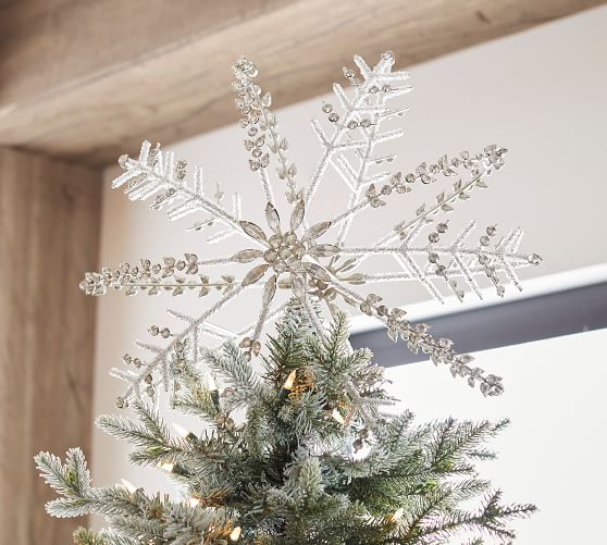 Jeweled Snowflake Tree Topper Pottery Barn