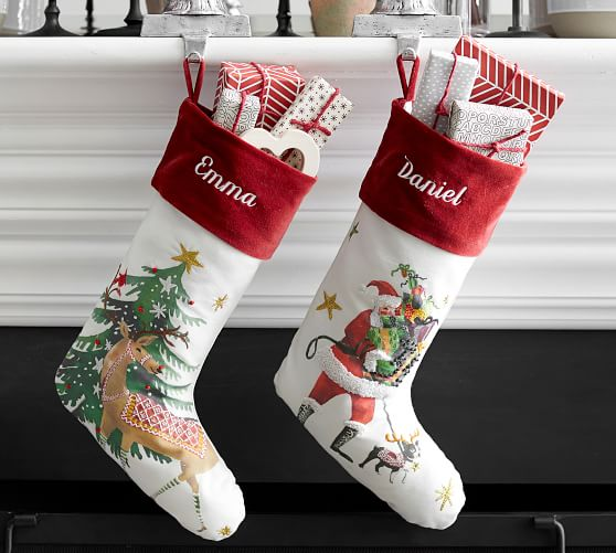 Jolly Christmas Stockings Pottery Barn