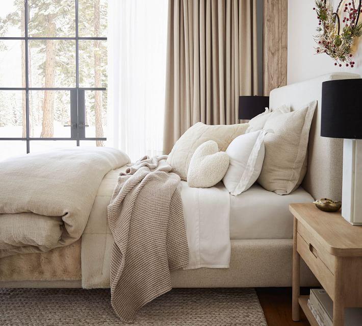 Alpine Faux Fur Quilt & Shams - Ivory