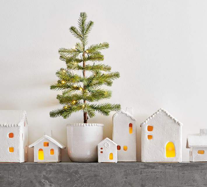 Handmade Ceramic Christmas Village Houses