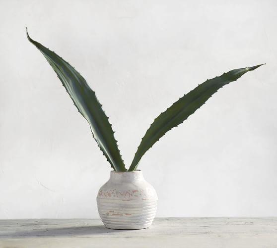 Faux Aloe Leaf