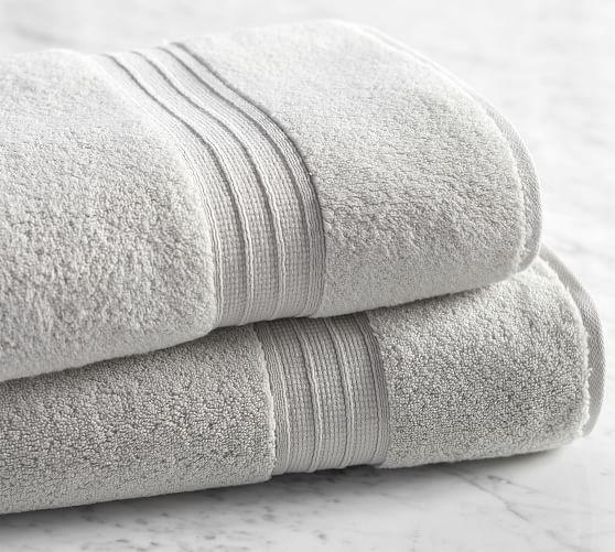 Pottery Barn White Classic Organic Bath Sheet NEW 4 Available!