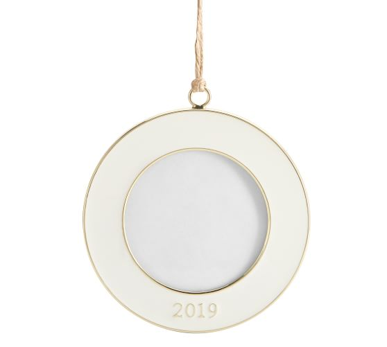 2019 Dated Enamel Frame Ornaments White Pottery Barn