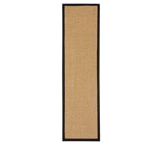 Color Bound Handcrafted Natural Sisal Rug Black Pottery Barn