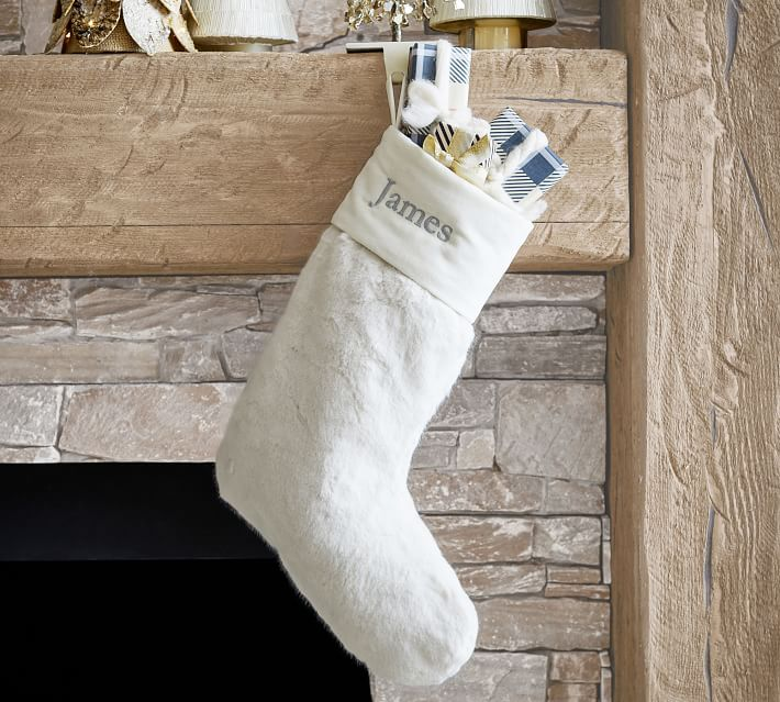 Shop Alpaca Faux Fur Personalized Stocking from Pottery Barn on Openhaus