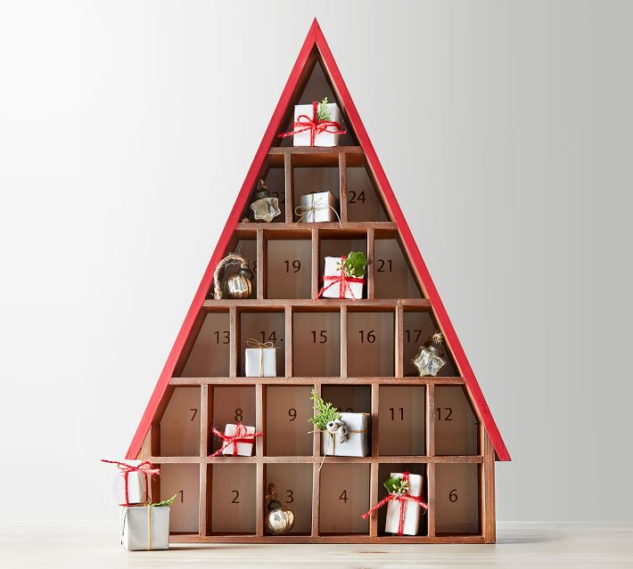 Rustic Wooden House Advent Calendar | Pottery Barn