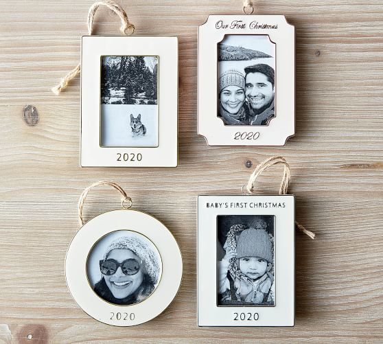2020 First Christmas Picture Frame 2020 Baby's First Christmas Frame Ornament | Pottery Barn