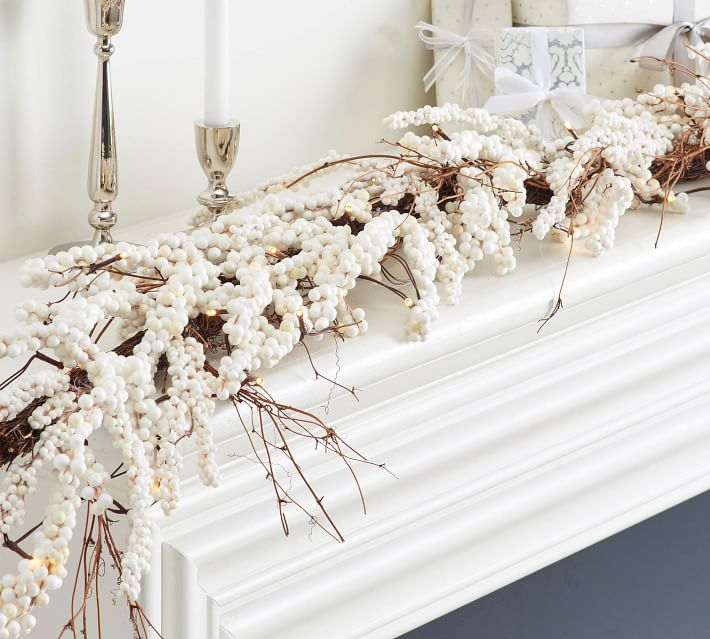 white garland