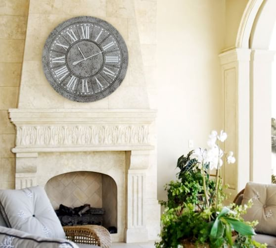 Pierson Oversized Wall Clock Pottery Barn