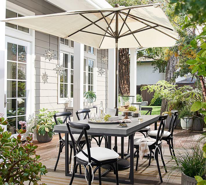 Rectangular Outdoor Umbrella Outdoor Umbrellas Pottery Barn