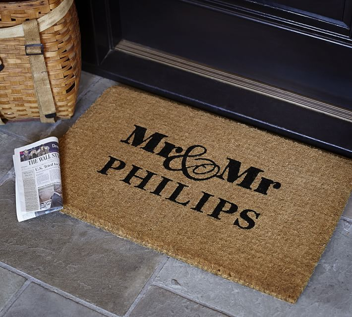 Mr And Mr Personalized Doormat Pottery Barn