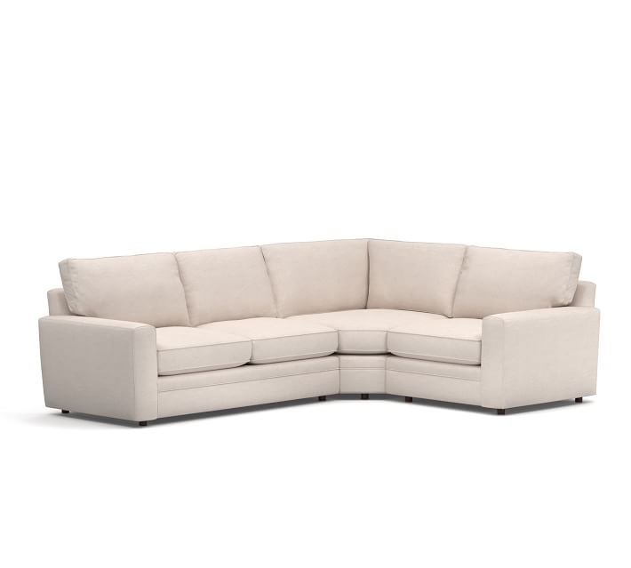 Pearce Square Arm Upholstered 3 Piece Sectional With Wedge
