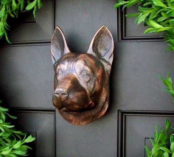 Tack Room Studio German Shepherd Solid Brass Door Knocker