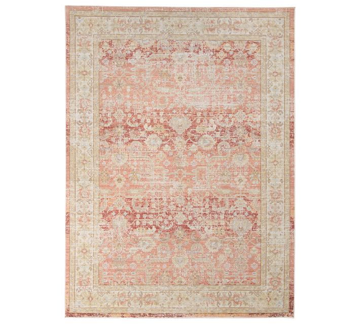 Kenya Persian-Style Handwoven Synthetic Rug - Pink Multi