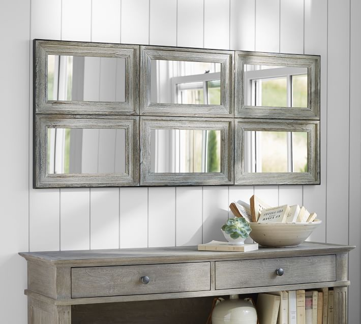 Aiden Large Paneled Wall Mirror Pottery Barn