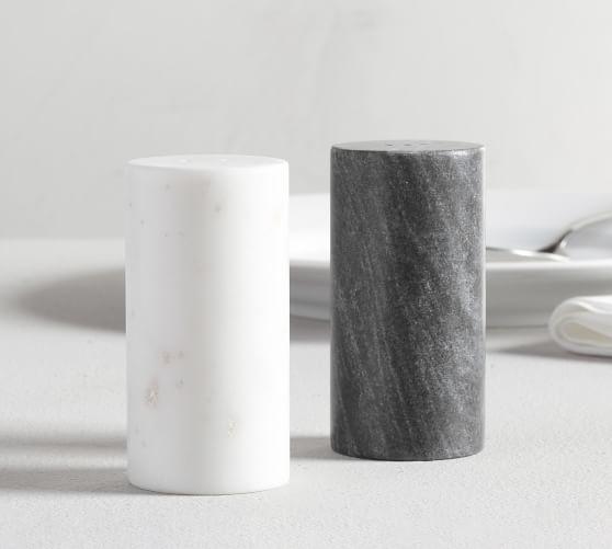 Black White Marble Salt And Pepper Shakers Pottery Barn