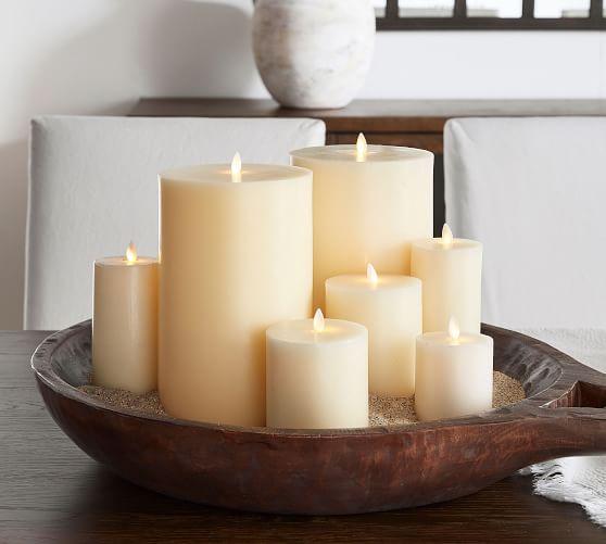 Premium Flickering Flameless Wax Pillar Candles