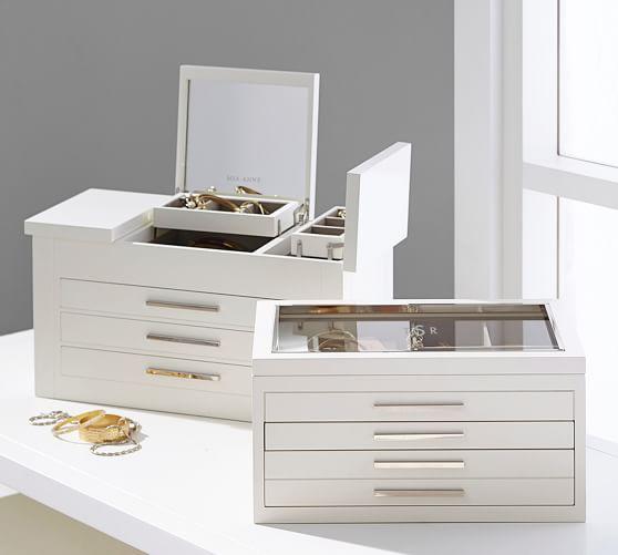 Jewelry box Velvet jewelry set box Jewelry box gray jewelry set jewelry box Large jewelry box medium jewelry box