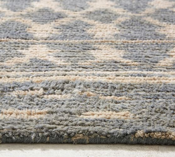 Cassius Tufted Wool Rug Blue Multi Pottery Barn