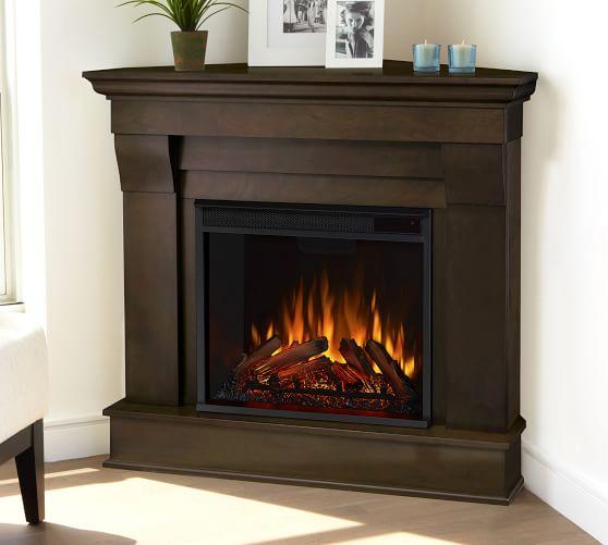 41 Cau Corner Electric Fireplace, Small Corner Faux Fireplace