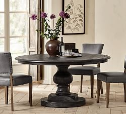 54 Inch Round Pedestal Dining Table Pottery Barn
