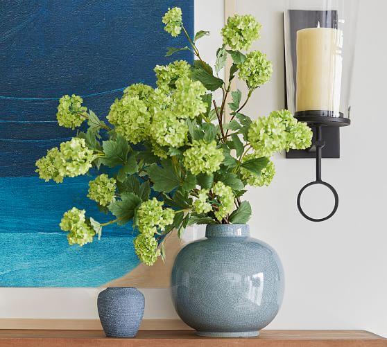 Rhea Crackled Ceramic Vase