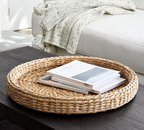 Handwoven Seagrass Round Tray
