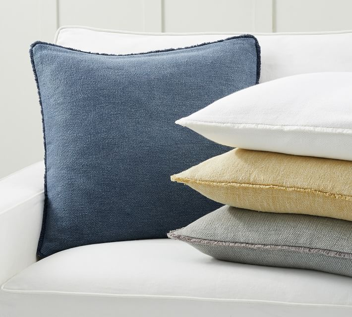 Willa Textured Fringe Pillow Covers Pottery Barn