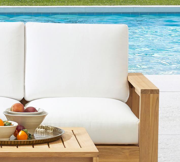 Malibu Teak Outdoor Furniture Cushion, Teak Patio Furniture Cushions