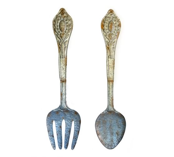 0 out of 5 stars, based on 0 reviews. Metal Fork Spoon Wall Decor Set Of 2 14 5 W X 60 H Pottery Barn