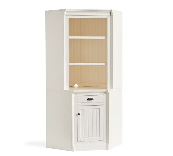 Aubrey 49 5 X 84 Return Corner Bookcase Pottery Barn