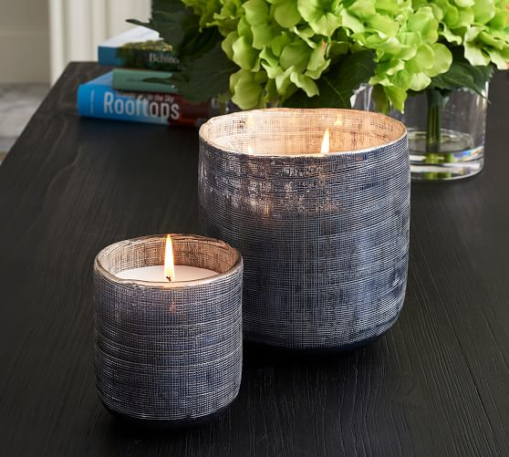 Linen Textured Candle - French Tuberose