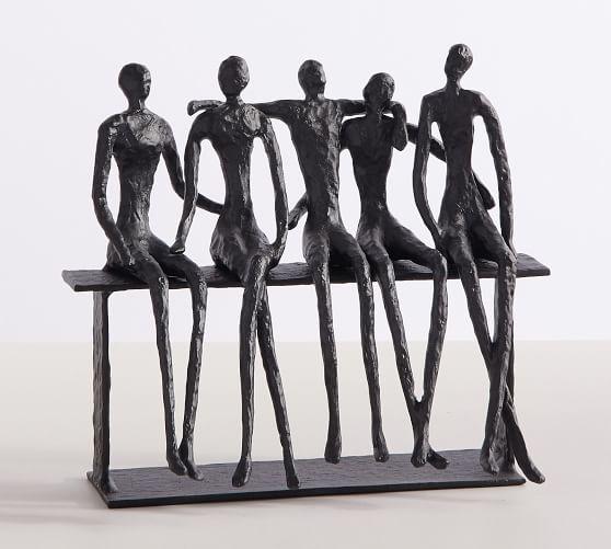 Five Sitting Men Sculpture