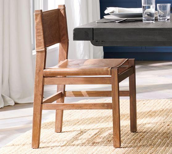 Segura Leather Dining Chair Armchair Pottery Barn