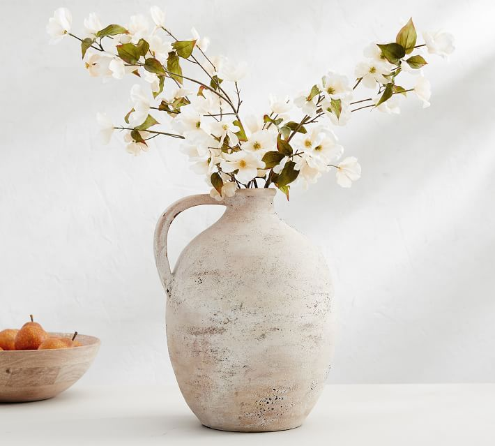 Artisan Hand Painted Earthenware Vases