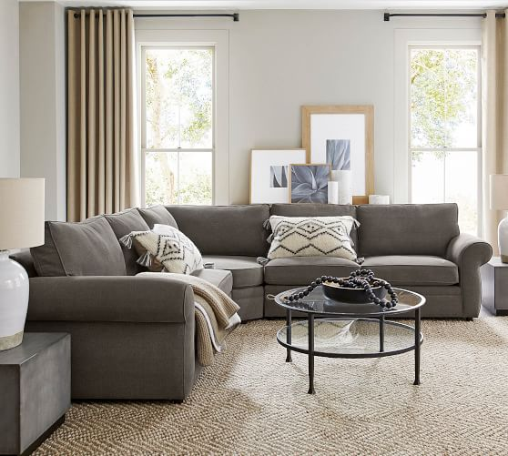 Pearce Upholstered 3 Piece L Sectional With Wedge Pottery Barn