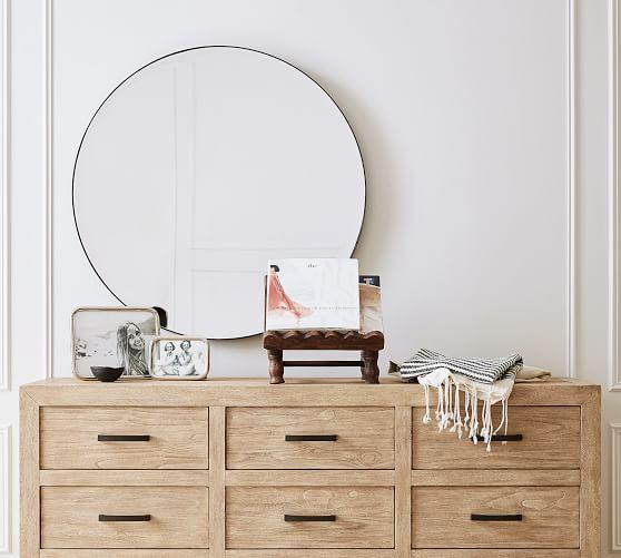 Madalyn Round Beveled Edge Wall Mirror
