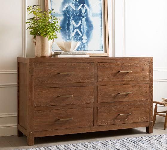 Menlo Reclaimed Teak 6-Drawer Wide Dresser